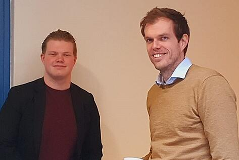 Wessel van der Weegh en Robert Jan Klumper