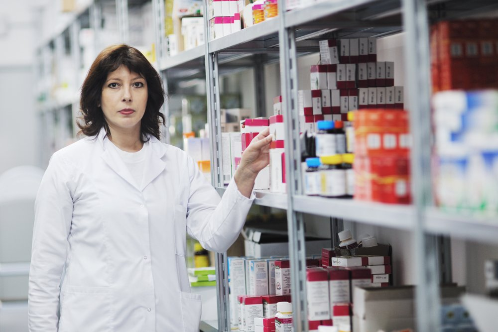 woman worker in pharmacy company warehouse-1